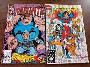 The New Mutants #88 and 100 (April 1990, Marvel) HIGH GRADE