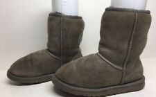 #D WOMENS UGG AUSTRALIA WINTER SUEDE GRAY BOOTS SIZE 5