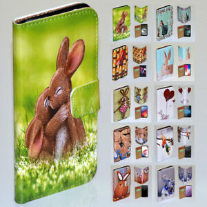 For Nokia Series - Easter Bunny Theme Print Wallet Mobile Phone Case Cover #2
