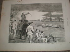 Preparing for the University boat race coaching Oxford crew 1876 print rf V