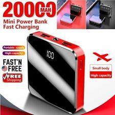 20000mAh Mini Power Bank Dual USB UltraThin External Battery Backup Charger