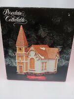 Santa's Best Porcelain Collectible St.Catherine's Christmas Village Church 1993