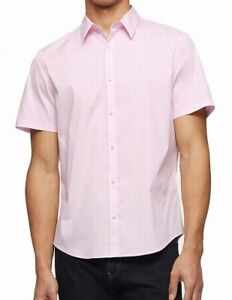 Weatherproof Mens Shirt Light Pink US Size Large L Solid Button Down $69- 006