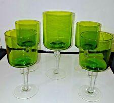 Collectibles Vintage Amber Depression Glass Wine Goblet Square Bowl Smooth Stem Carnival Glass