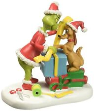 Retired * Max Lending A Helping Paw* Dept 56 Dr. Seuss  Grinch  New  In Box