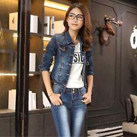 Korean Fashion Women Girl Jean Denim Jacket Coat Blouse Cotton Shirt Top Outwear