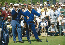 Ben Hogan and Arnold Palmer on Tee Smoking  Masters Golf Poster Print