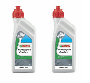 Castrol Motorcycle Coolant 2 Litres 2L Antifreeze Motorbike Bike Moped Scooter