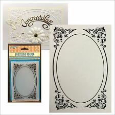 DECO FRAME oval frame embossing folder - Nellie Snellen embossing folders EFE022