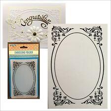 DECO FRAME oval frame embossing folder - Nellie Snellen embossing folders EFE022
