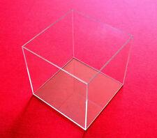 TIsch Vitrine Würfel Acryl Glas Box mit Deckel Schaukasten 20x20x20 cm