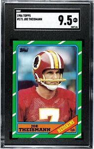 1986 Topps Joe Theismann #171 SGC 9.5 MINT + Redskins RARE GRADE!!!