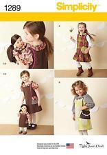 """Simplicity Nähen Muster Kinder Kleider & Puppe Kleid für 18 """" Puppe 1289"""