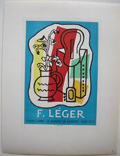 Fernand leger galería louis Carré ORIG litografía 1953 maitres de l 'Ecole
