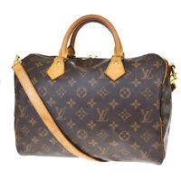 Auth LOUIS VUITTON Speedy 30 Bandouliere Hand Bag Monogram Brown M41112 56MD215