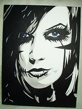 Canvas Painting Black Veil Brides Andy Biersack Art 16x12 inch Acrylic