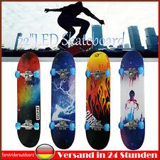 31''LED Skateboard Deck Funboard Holzboard komplett 80x20cm Ahornholz Auswahl
