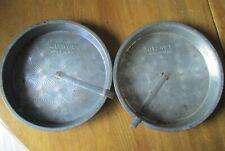 """New Listing2 Vintage Ovenex Starburst 9"""" Round Cake Baking Pans w/slider release arm"""