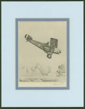 Sopwith 1 1/2 Strutter -Vintage Collotype Print by Howard Leigh - Ready to Frame
