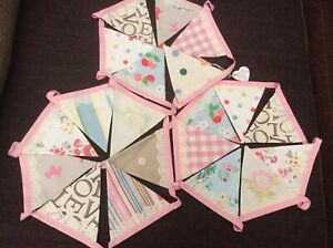 """""""Perfect Bunting"""" Hand Made Emma Bridgewater Love And Lace Bunting 50% Off"""