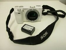 Sony Alpha 6000 ILCE-6000 Digital Camera Body Only White -Used
