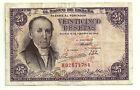 BILLETE DE 25 PESETAS DE 1946 (MBC) F. ESTRADA (SERIE H)