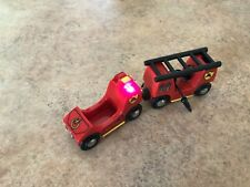 33542 Authentic Brio Wooden Train Light & Sound Fire Engine! Thomas!See My Store