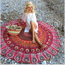 Peacock Mandala Tapestry Picnic Blanket Large Beach Towel Yoga Mat Hippie Rug