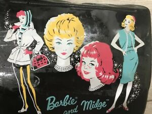 Barbie and Midge Lunch Box 1963 Nice Condition  With Doll Clothes And Shoes