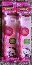 2 New Firefly Hello Kitty Soft Toothbrush Suction Cup Base with Cap