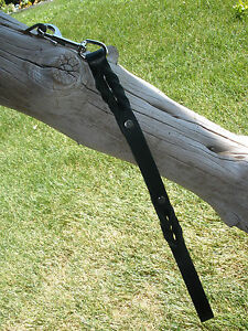 "BLACK 3/4"" X 24""  NEW LATIGO LEATHER DOG TRAFFIC LEASH SILVER / CHROME BOLT SNAP"