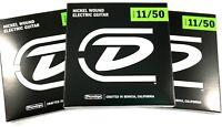 Dunlop Guitar Strings - Electric - 3 Pack - 11-50 - Nickel Plated Steel