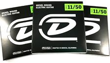 Dunlop Guitar Strings - Electric - 3 Pack - 11-50 - Nickel Plated Steel