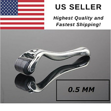 540 Titanium Premium Silver Micro Derma Roller 0.5mm Acne Scars Wrinkles US Sell