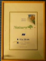 Bilderrahmen Holz B+H Nature 13x18cm neuwertig junges Wohnen geschmacklos H6002