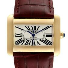 Cartier Tank Divan Large Silver Dial Yellow Gold Ladies Watch W6300856