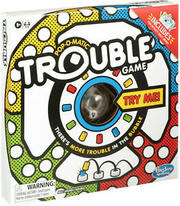 Trouble Board Game Pop-O-Matic Play GENUINE BRAND NEW & FREE FAST POST