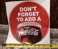 2 Coca-Cola Drink Logo Sticker McDonalds 2015 advertising Decal