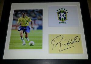 RIVALDO BRAZIL LEGEND SIGNED DISPLAY + COA