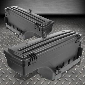 FOR 02-18 DODGE RAM 1500 2500 3500 TRUCK L+R WHEEL WELL STORAGE TOOL BOX W/LOCK