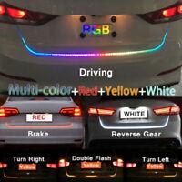 7Color Flow Type Led Car Tailgate Strip Waterproof Brake Driving Signal Lig XUAN