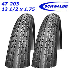 2x Schwalbe HS140 47-203 12 1/2x1.75 Pram Tyres to fit Phil & Teds E3