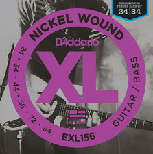 D'Addario EXL156 Nickel Guitars Strings For Designed Fender Bass VI