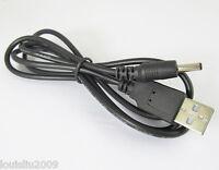 3pcs 1M//3.3ft USB 2.0 A Male to 1.35 x 3.5mm DC Plug 5V DC Power Cable Black