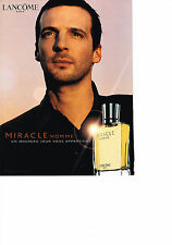 PUBLICITE ADVERTISING  2000   MIRACLE   parfum pour homme de LANCOME