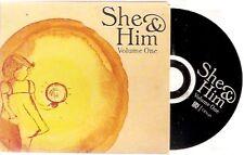 "She & Him - ""volume one"" + insert"