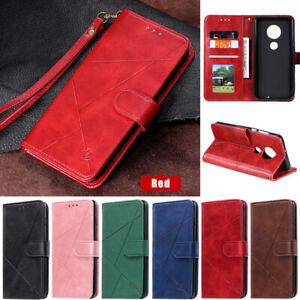 For Motorola Moto G8 Power G7 Plus G7 Play Slim Wallet Leather Flip Cover Case