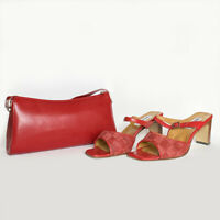 Valleverde Sandali + Borsetta - Colore Rosso - Misura 41 - Scarpa aperta Tacco