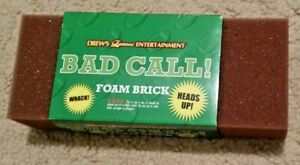 """Bad Call Foam Brick:  stress reliever  8"""" x 3"""" foam"""