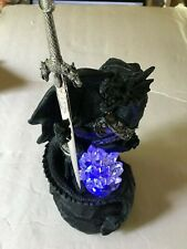 Dragon Statue with Automatic Light Changing Crystal